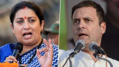 Smriti Irani Takes a Dig at Congress Leader Rahul Gandhi, Calls Him 'Gyani Baba'