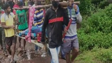 India News   Villagers Carry Pregnant Woman on Cot for 10 Km Due to Lack of Roads in Andhra's Kinneralova Village
