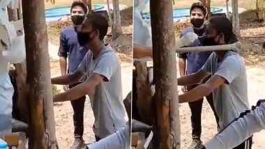 Hand Hoe Used to Hold Person While Performing COVID-19 Nasal Swab Test, Video of Desi 'Jugaad' Goes Viral
