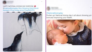 National Kissing Day 2021 Wishes: Netizens Pour in Quotes, Messages, HD Images and Wallpapers on Twitter To Celebrate the Power of Kissing