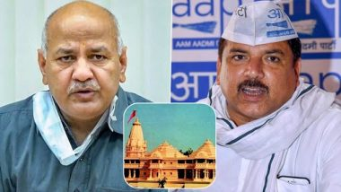 Ayodhya Ram Mandir Alleged Land Scam: AAP Leaders Manish Sisodia and Sanjay Singh Lash Out at BJP, Ask 'What Was Your Share In The Scam?'
