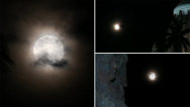 Strawberry Moon, the Last Supermoon Of 2021, Seen in Odisha's Puri (See Pics)
