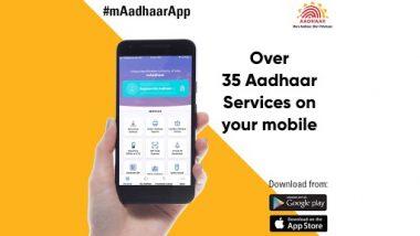 Aadhaar Services on mAadhaar App: Get Over 35 Aadhaar Services on Your Smartphone With This Mobile App; Here's How To Download