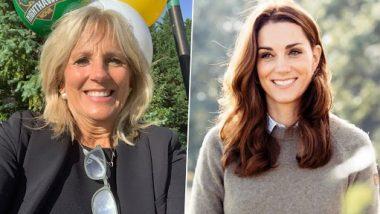 US First Lady Jill Biden and Kate Middleton Tour Preschool in Southwestern England