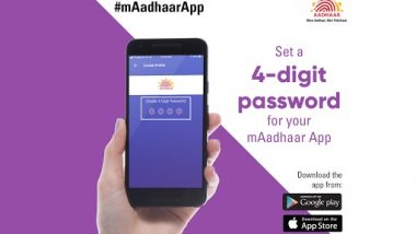 Aadhaar Online Services: mAadhaar App Comes With Enhanced Security, Now Set a 4-Digit Password To Avail Aadhaar Services on Mobile; Know Details