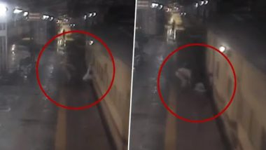 RPF Constable and Train Guard Save Man From Getting Crushed Under Moving Train (Watch Video)