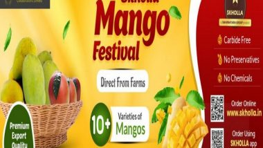 Business News   Skholla.in Mango Festival Sale Lines Up 10+ Farm Fresh, Chemical-free Mango Varieties for Door Delivery