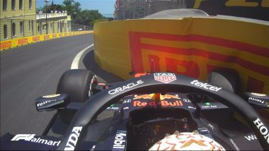 Max Verstappen's Car Hits the Wall During Third Practice Session of Azerbaijan Grand Prix 2021, Red Bull Racer Left Frustrated (Watch Video)