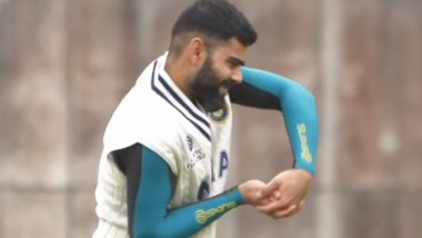 Virat Kohli, Cheteshwar Pujara & Other Members of Team India Sweat it Out in the Nets Ahead of Their WTC 2021 Final Against New Zealand (Watch Video)