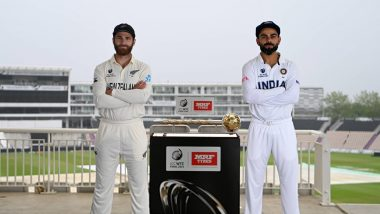 India vs New Zealand ICC WTC 2021 Final Day 2 Live Streaming Online on DD Sports, Star Sports & Disney+ Hotstar: Get Free Live Telecast of IND vs NZ Test Match on TV and Listen to Live Radio Commentary