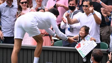 Here's What Novak Djokovic has to Say About the Young Girl he Gifted Racket to Post Wimbledon 2021 Title Win