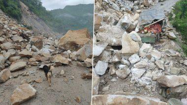 Himachal Pradesh: Chandigarh-Manali National Highway 3 Blocked Due to Landslide in Mandi District