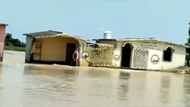Bihar: Sub-Health Centre Washed Away by Floodwater in Darbhanga District's Atihar (Watch Video)