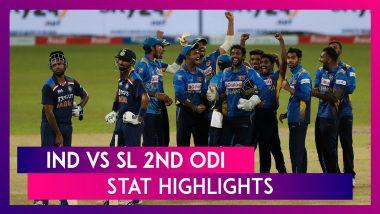 IND vs SL 2nd ODI Stat Highlights: Deepak Chahar Shines in India's Win