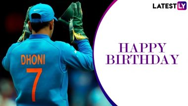 MS Dhoni Birthday Special: A Look At Three Major Records Held By the Former Indian and Current CSK Captain