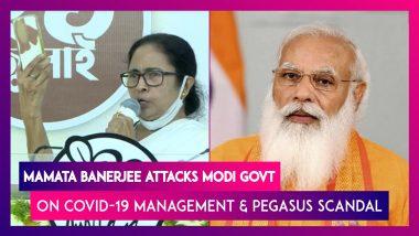Mamata Banerjee Targets Modi Govt on Covid-19, Pegasus Scandal, Says She Has Taped Her Phone Camera