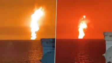 Large Explosion in Caspian Sea Near Azerbaijan Gas Field (Watch Video)