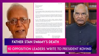 Father Stan Swamy's Death: 10 Opposition Leaders Write To President Kovind