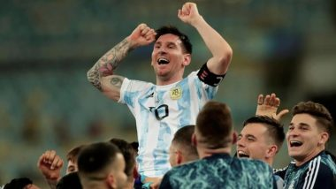 Lionel Messi's Lifelong Dream Turns Into Reality as a 'United' Argentina Better Brazil at the Maracana in Copa America 2021 Final