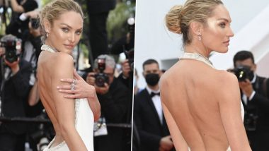 Candice Swanepoel Stuns in Gorgeous Backless White Gown at Cannes Film Festival 2021 (View Photos)