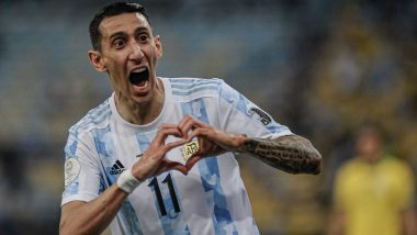 Angel Di Maria's Goal Helps Argentina Clinch Copa America 2021 Title With 1-0 Win Over Brazil (Watch Video)