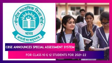 CBSE Announces Special Assessment System For Class 10 And 12 Students For 2021-22