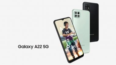 Samsung Galaxy A22 5G Launched; Priced in India From Rs 19,999