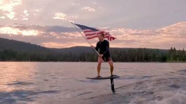Mark Zuckerberg Celebrates 4th of July Waving American Flag While Wakeboarding, Adventurous Stint Video Leaves Netizens Amused