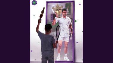 Novak Djokovic Shares Heartfelt Post on Instagram, Acknowledges Artist for 'Emotional' Picture After Winning Wimbledon 2021