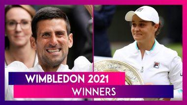 Novak Djokovic, Ashleigh Barty And Other Winners of Wimbledon 2021