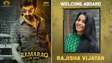 Ramarao On Duty: Rajisha Vijayan To Debut In Telugu Film Industry With Ravi Teja's Film