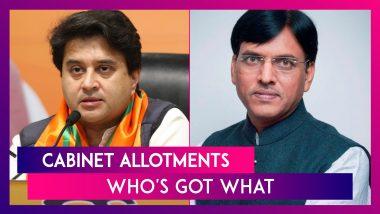 Cabinet Allotments: Jyotiraditya Scindia, Ashwani Vashnaw, Mansukh Mandaviya Get Plum Portfolios, Full List