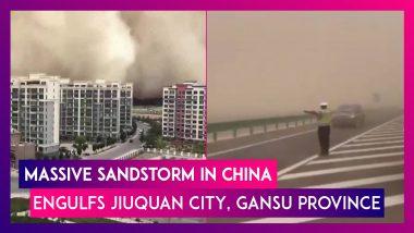China: Massive Sandstorm Engulfs Jiuquan City, Gansu Province