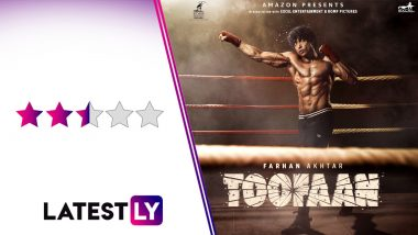 Toofaan Movie Review: Farhan Akhtar and Mrunal Thakur's Boxing Drama is A Predictable Affair With a Relevant Social Angle (LatestLY Exclusive)