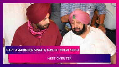 Punjab: Captain Amarinder Singh & Navjot Sidhu Meet Over Tea, Hit Reset Button As Latter Assumes Charge