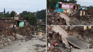 Dharamshala Flash Floods: Several Houses Damaged in Chaitru Village (Watch Video)
