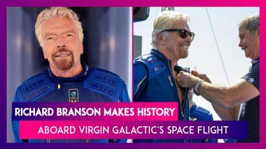 Richard Branson Makes History Aboard Virgin Galactic's Space Flight