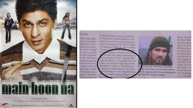 Main Hoon Na's End Credits Is Making Twitterati Have A Great Laugh And The Reason Is This Newspaper Clipping (Watch Video)