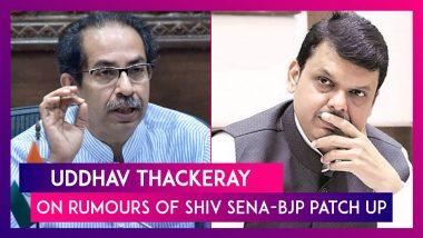 Uddhav Thackeray On Rumours Of Shiv Sena- BJP Patch Up: Not Going Anywhere