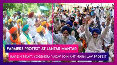Farmers Protest at Jantar Mantar: Rakesh Tikait, Yogendra Yadav, & MPs Join Anti-farm Law Protest