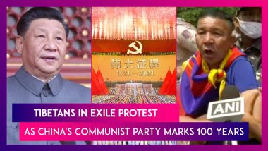 Tibetans In Exile Protest As China's Communist Party Marks 100 Years
