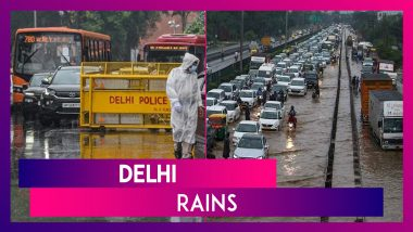 Delhi Rains: Heavy Downpour Leads To Waterlogging At Several Places; Cop's Car Falls Into Sinkhole; Man Drowns In Flooded Underpass