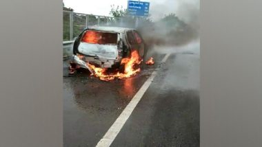 India News | Moving Car Gutted by Fire in Telangana, No Casualties