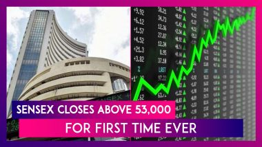 Sensex Closes Above 53,000 For First Time Ever Led By HDFC Twins, ICICI Bank & Tata Steel