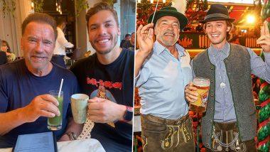Arnold Schwarzenegger's Kids Joseph Baena, Katherine and Patrick Shower Love on His Birthday