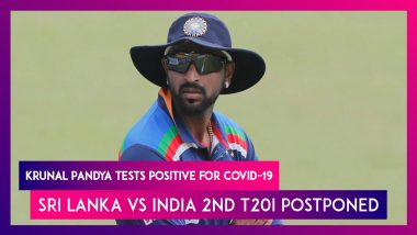 Sri Lanka vs India 2nd T20I Postponed After Krunal Pandya Tests Positive for COVID-19