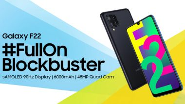 Samsung Galaxy F22 With Quad Rear Cameras Launched in India Starting at Rs 12,499; First Sale on July 13, 2021
