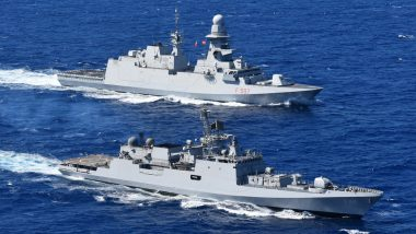 INS Tabar, Indian Navy's Frontline Frigate, Exercises with Italian Navy Off Naples, Italy