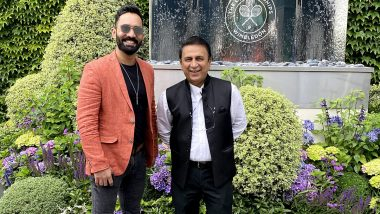Took My Spot in Playing 11 and Now at Wimbledon Too: Rohan Gavaskar Reacts Cheekily After Dinesh Karthik Posts Picture With Sunil Gavaskar