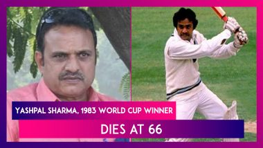 Yashpal Sharma, Member of India's 1983 World Cup Winning Side, Passes Away at 66